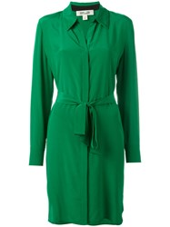 Diane Von Furstenberg Wrap Dress Green