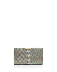 Milly Clutch Metallic Python Embossed Small Frame Multi