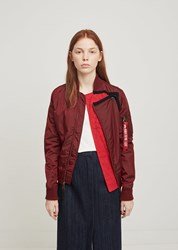 Lutz Huelle X Alpha Industry Lace Bomber Burgundy Bomber Red Lace