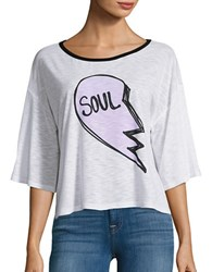 Honey Punch Jersey Knit Soul Graphic T Shirt White