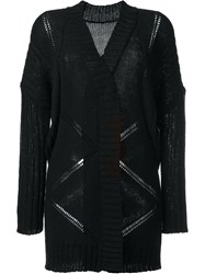 Barbara Bui Open Knit Cardigan Black