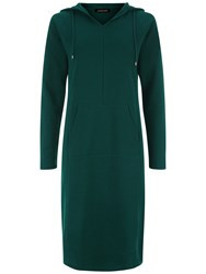 Jaeger Casual Hooded Dress Green