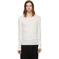 Rick Owens White Basic Long Sleeve T Shirt