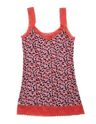 Dkny Patterned Lace Camisole Candy Heart