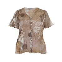 Chesca Asymmetric Ruched Blouse Gold