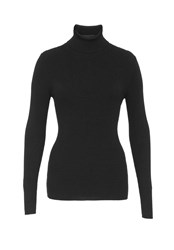 Hallhuber Essential Turtle Neck Jumper Black
