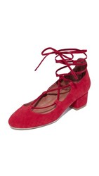 Jeffrey Campbell Aitana Lace Up Pumps Red