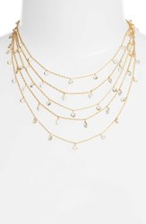 Ela Rae 'S Multistrand Cubic Zirconia Necklace Gold