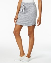 Style And Co Melange Drawstring Skort Only At Macy's Silver Combo
