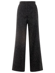 Whistles Smith Donegal Wide Leg Trousers Dark Charcoal