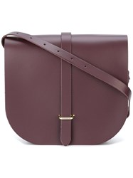 The Cambridge Satchel Company Saddle Bag Pink Purple
