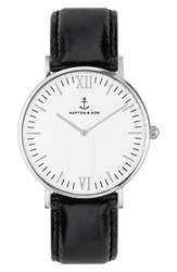 Kapten And Son Women's 'Campina' Leather Strap Watch 36Mm