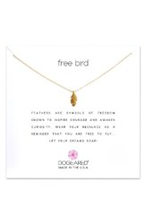 Dogeared Women's Reminder Free Bird Pendant Necklace
