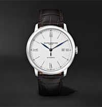 Baume And Mercier Classima Automatic 40Mm Stainless Steel Alligator Watch Ref. No. M0a10214 White