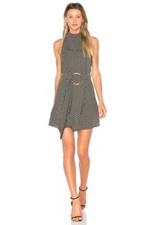 Shona Joy La Luna High Neck Mini Dress Black