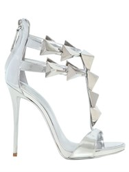 Giuseppe Zanotti 120Mm Pyramid Mirror Leather Sandals