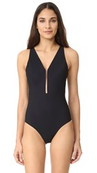 Alexander Wang V Neck One Piece Matrix