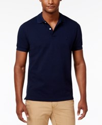 Brooks Brothers Red Fleece Men's Pique Knit Cotton Polo Navy