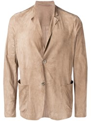 Salvatore Santoro Classic Fitted Blazer Neutrals