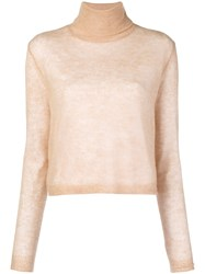 Alysi Boxy Roll Neck Sweater Nude And Neutrals