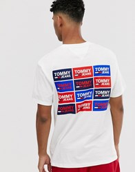 Tommy Jeans Back Multi Logo T Shirt In White