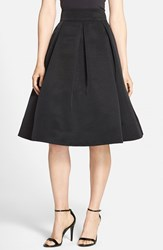 Women's Eliza J Pleated Faille Midi Skirt Black