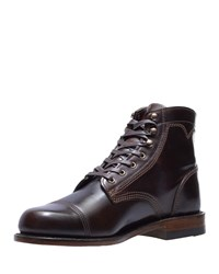 Wolverine Shell Leather Boots Brown