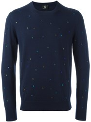 Paul Smith Ps By Dot Embroidered Jumper Blue