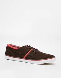 Pull And Bear Pullandbear Plimsolls With Contrast Details Brown