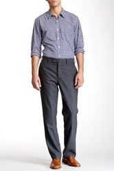 Louis Raphael Solid Worsted Wool Modern Fit Pant Gray