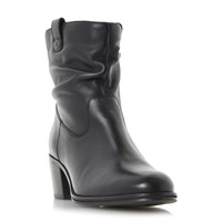 Linea Payslie Rucked Ankle Boots Black
