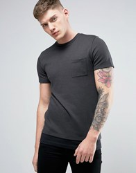 Jack And Jones Core T Shirt With Drop Hem Detail Black