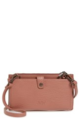Matt And Nat Tipei Faux Leather Phone Crossbody Bag Pink Clay