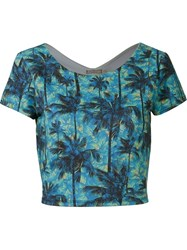Blue Man 'Coqueiral' Crop Top