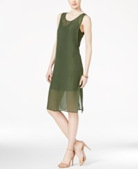 Bar Iii Sleeveless Sheath Slip Dress Only At Macy's Dusty Olive