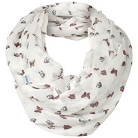 Fat Face Scattered Butterfly Print Snood Cream Multi