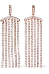 Cz By Kenneth Jay Lane Rose Gold Tone Crystal Earrings Rose Gold