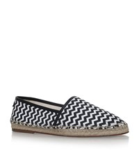 Dolce And Gabbana Zig Zag Espadrilles Male Black