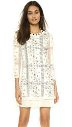 Just Cavalli Long Sleeve Shift Dress White Mushroom