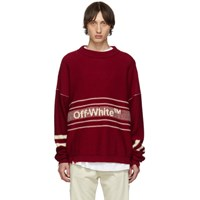 Off White Ssense Exclusive Red Logo Sweater