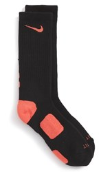 Nike Men's 'Elite Basketball' Crew Socks Black Black