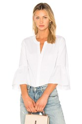 1.State Bell Sleeve Button Down Blouse White