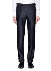 Tomorrowland Silk Outseam Wool Tuxedo Pants Blue