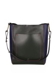 Jason Wu Julia Leather Tote Ballerina Dark Moss