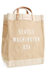 Apolis City Market Tote Beige Seattle