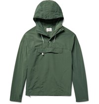 Battenwear Nylon Hooded Anorak Army Green