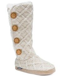Muk Luks Tall Malena Boot Slippers Vanilla