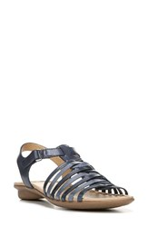 Naturalizer Women's Wade Strappy Sandal Blue Multi Leather