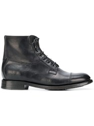 Silvano Sassetti Ankle Lace Up Boots Black