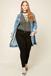 Forever 21 Plus Size Moto Jeans Black